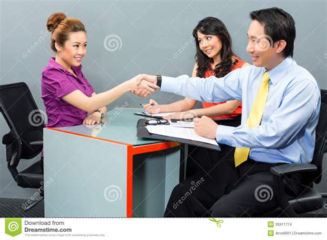hire office job interview for a new employment or hire in asian office