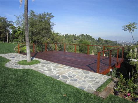 hillside deck contemporary deck los angeles by
