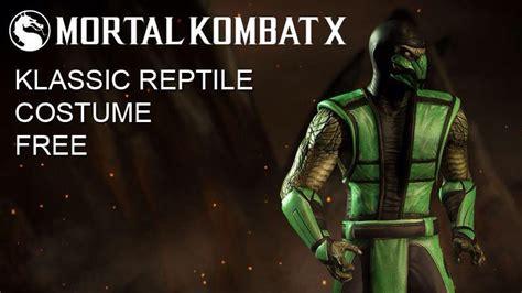 Mortal Kombat X Gets Klassic Reptile Costume In New Patch