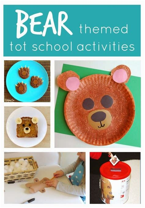 bear themed tot school activities  toddlers toddler