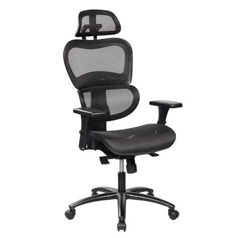 Office Chairs Neck Support by Techni Mobili Black Mesh High Back Executive Office Chair