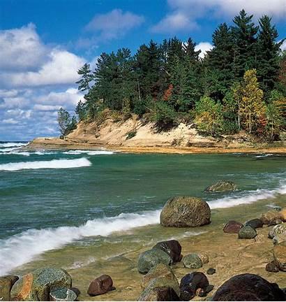 Superior Lake Michigan Peninsula Upper Rocks Lakeshore