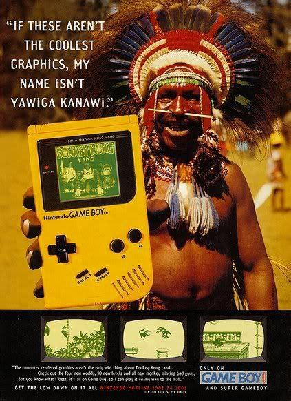 Gameboy Not In Color Ad Featuring Donkey Kong Country Gb