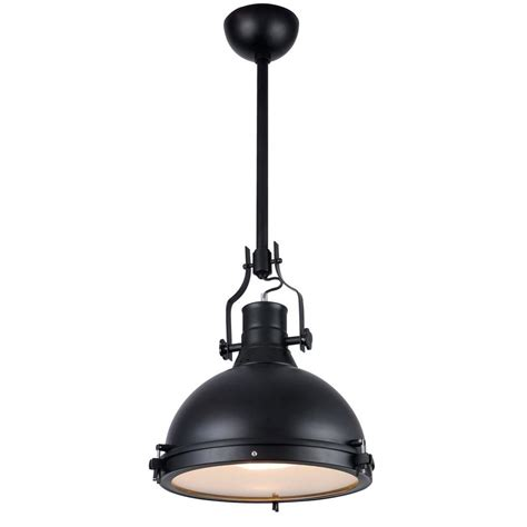 lighting industrial 1 light black pendant l