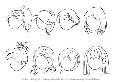 learn   draw anime hair female hair step  step
