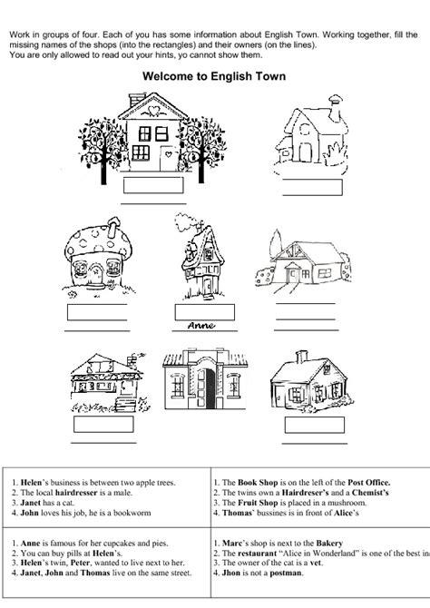 English Town (Information-gap Game)