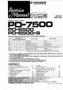 Pioneer Pd-6500  U0026 Pd-7500 Original Service Manual