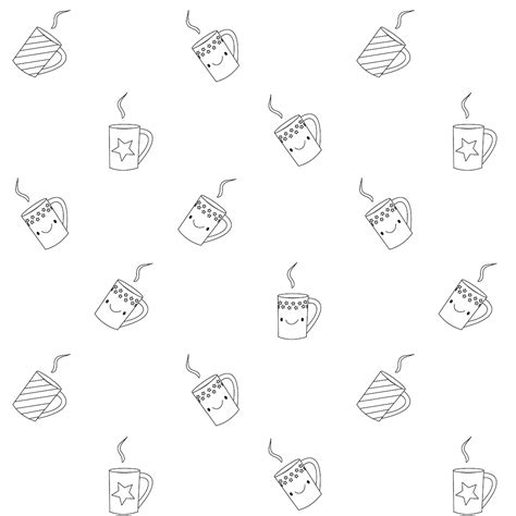 Mug Coloring Pages Printables Coloring Pages