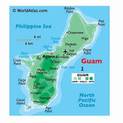 Guam Map Coloring Maps Pages Capital Islands
