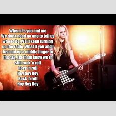 Avril Lavigne  Rock N Roll  Lyrics Youtube