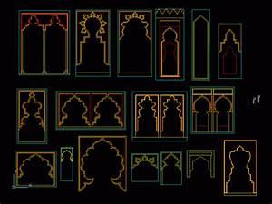 Islamic Arches 2D DWG Elevation for AutoCAD • DesignsCAD