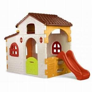 Cabane Pour Enfant Pas Cher : maison enfant avec toboggan cabanes abri jardin ~ Melissatoandfro.com Idées de Décoration