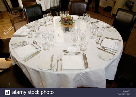 formal table setting for lunch in angel hotel during