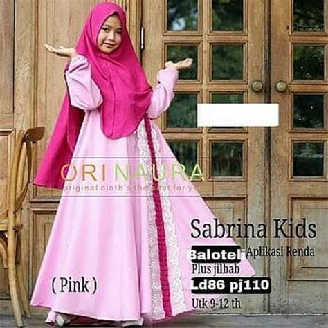 Syari Jelita jual syari kid sabrina naura baju muslim bergo anak