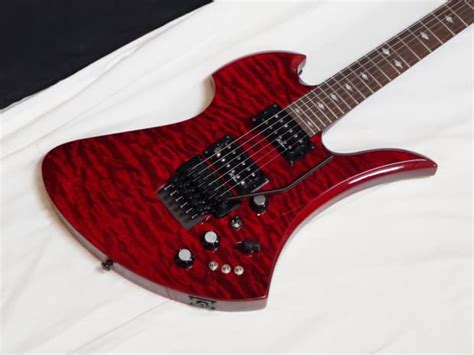 Bc Rich Mockingbird Stc Electric Guitar Trans Red W/ Case