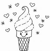 Ice Cream Coloring Pages Cone Printable Sheets Cute Drawing Creams Icecream Sheet Template Draw Sweetie Azcoloring Candy Float Forkids Print sketch template