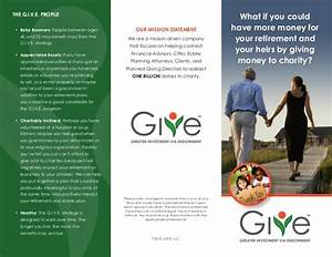 charitable giving brochure With planned giving brochures templates