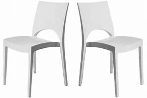 Chaise Salon Pas Cher : chaise de cuisine blanche pas cher en ligne ~ Dailycaller-alerts.com Idées de Décoration