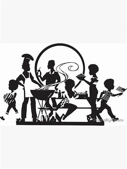 African American Picnic Barbecue Redbubble Features Designsbyaymara