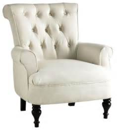 White Accent Chair morgan tufted armchair ivory contemporary armchairs