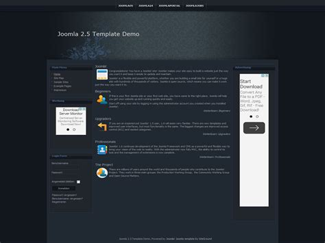Best Joomla 2 5 Templates Free Download by Blue Flower Free Joomla 2 5 Template Blue Flower