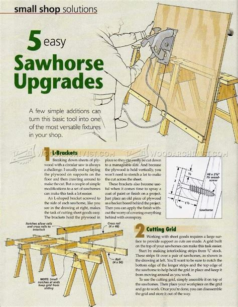 easy sawhorse upgrades woodworking projects diy