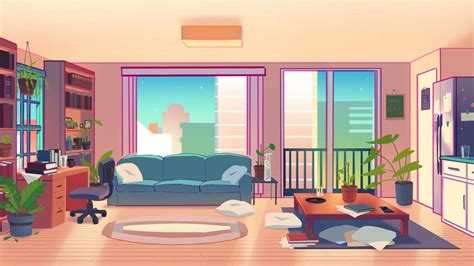 living room background   chime animation  hjeojeo