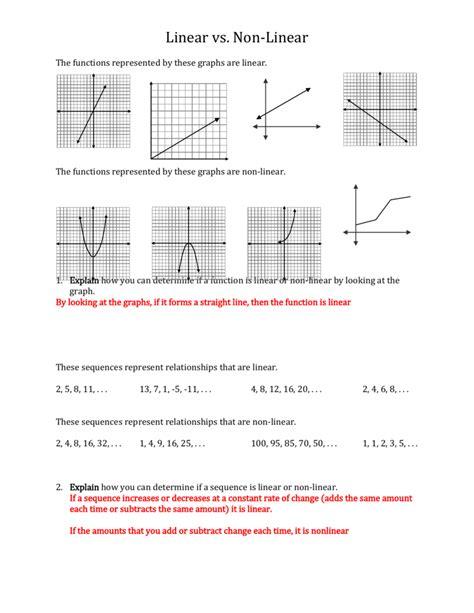 worksheet linear  nonlinear functions worksheet grass