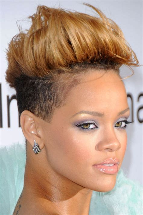 Honey Hairstyles by Rihanna Honey Mohawk Two Tone Undercut