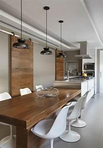 Table De Cuisine En Bois : la chaise de cuisine moderne en 62 photos inspirantes ~ Teatrodelosmanantiales.com Idées de Décoration