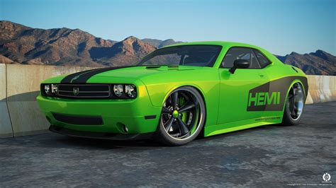 Widebody Dodge Challenger by dangeruss on DeviantArt
