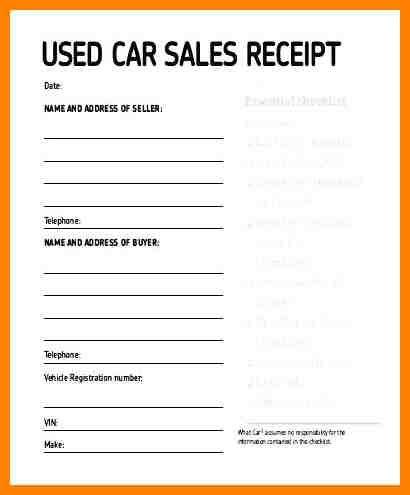 5 exle of car sale receipt cains cause