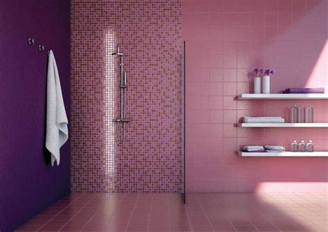 piastrelle bagno rosa piastrelle mosaico in bagno foto design mag