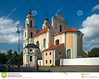 Church Of St. Catherine, Vilnius, Lithuania Editorial ...