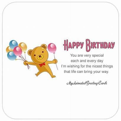 Birthday Happy Animated Card Cards Cousin Balloons