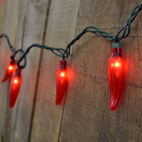 35 count chili pepper string lights