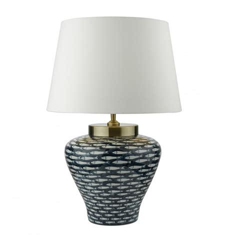 ceramic base table ls chinese ceramic l dark blue cream fish lighting and