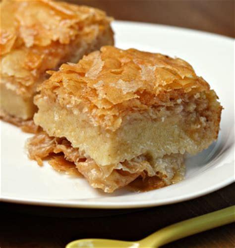 spécialité cuisine galaktoboureko ou gâteaux grecs à la semoule les