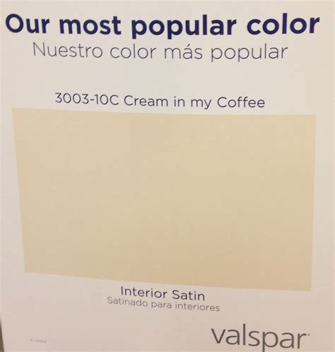 lowes says their most popular paint color is valspar cream
