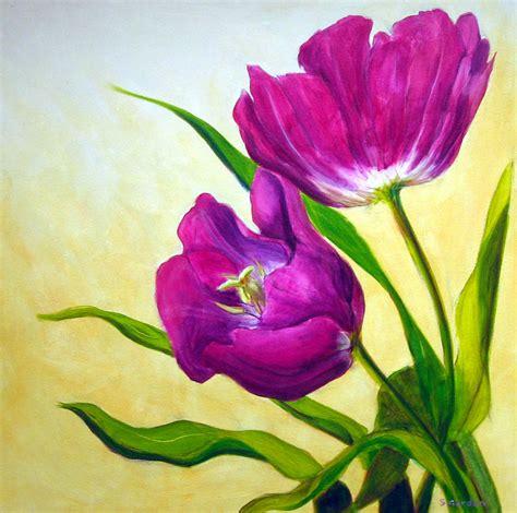 purple tulips painting  scott gordon