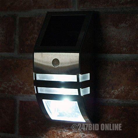 led stainless steel solar powered pir motion sensor door