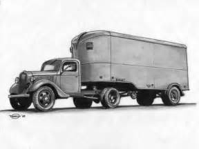 Ford Tractor Truck Drawing
