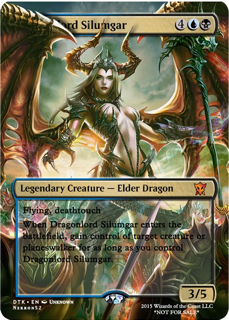 dragonlord silumgar magic  gathering cards mtg