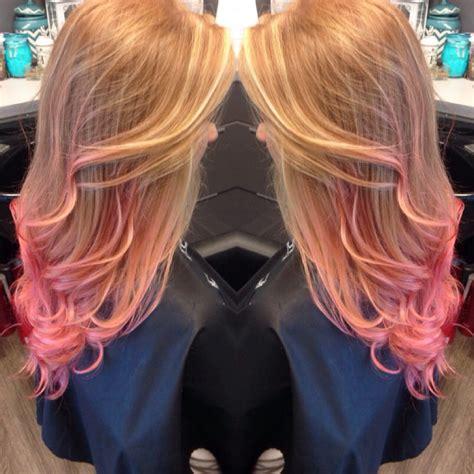 Ginger Hair Pink Tips Dip Dye Pink Hair Orange Hair