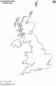 Outline Map Of United Kingdom