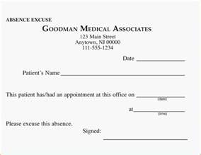 Free Printable Doctor Excuse Notes for Work