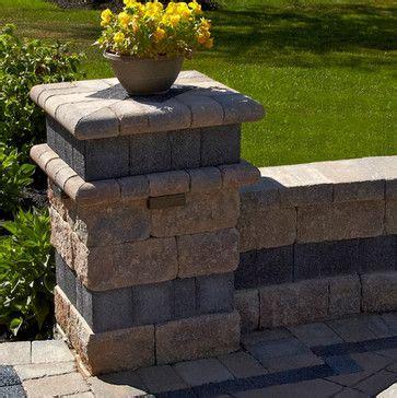 unilock estate wall unilock estate wall patio inspiration search