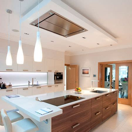 recirculating range ceiling mounted extractor fan kitchen home design