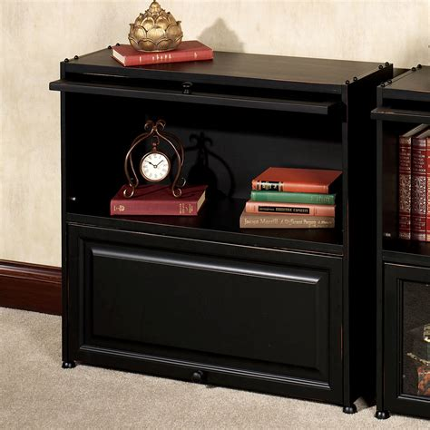Black Bookshelf With Doors by Wooden Shelves With Doors Solid Wood Bookcase With Glass