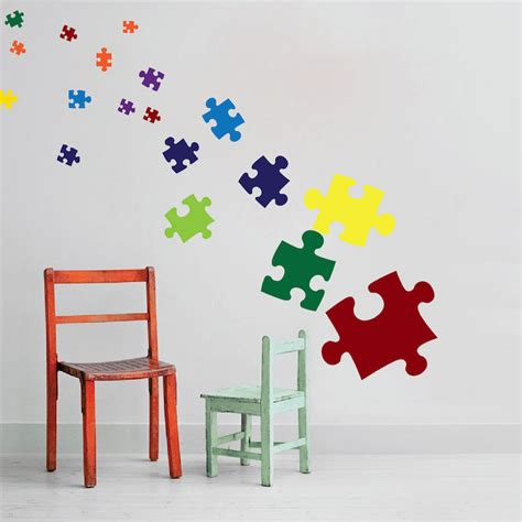 Today's crossword puzzle clue is a quick one: Puzzle Pieces Decal - Game Wall Decal Murals - Primedecals